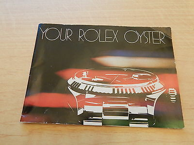 """Super Rare Vintage Collectible 80's """"Your Rolex Oyster"""" Booklet 1982"""