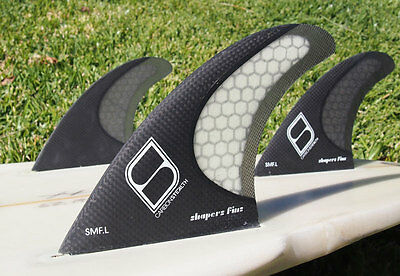 Shapers Fins - SMF-L (Futures) - Grey - Large - Thruster - Surfboard Fins