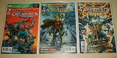 DC Flashpoint: Frankenstein & Creatures of the Unknown # 1-3 COMPLETE SET