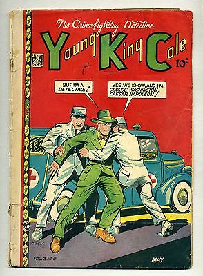 Young King Cole V. 3 #10 (1948, Novelty Press) GOLDEN-AGE Crime L. B. COLE Cover