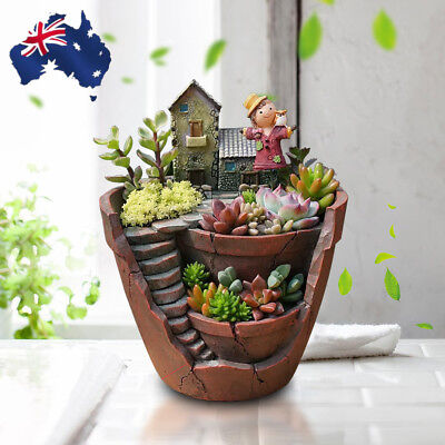 New Sky Garden Herb Flower Basket Planter Succulent Pot Trough Box Plant Bed AU