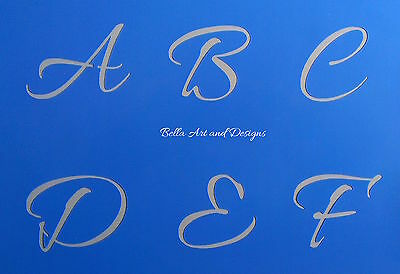 "Monogram Alphabet A to Z with ""&"" stencil sets  **Free gift with every order**"