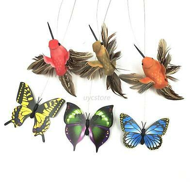 Electric Rotating Cat Toys Flower Butterfly Birds Steel Wire Dog Teaser Pet Toy