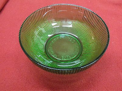 Vintage E. O. Brody Co. Translucent Green  Ribbed Glass Bow
