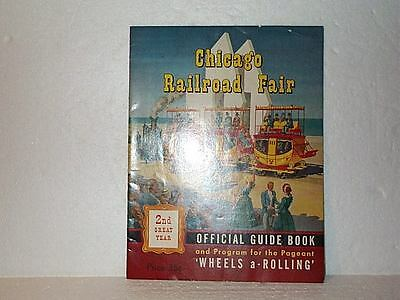 CHICAGO RAILROAD FAIR  Official Guide Book & Program Second Year 1949 Nice Shape