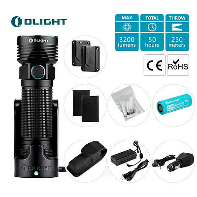 Olight R50 PRO LE Kit Seeker Max 3200 Lumens Rechargeable Cree XHP70 LED Torch