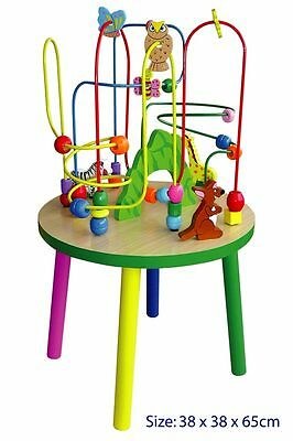 Brand New In Box Quality Wooden EDUCATIONAL TOY - Wire Bead Maze Table H: 65cm