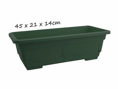 12 garden plant pot rectangle with saucer 45x21x14 green bulk wholesale lot