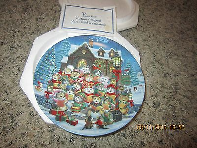 Bradford Exchange Purrfect Harmony Mewsic for the Holidays Christmas Cat Plate