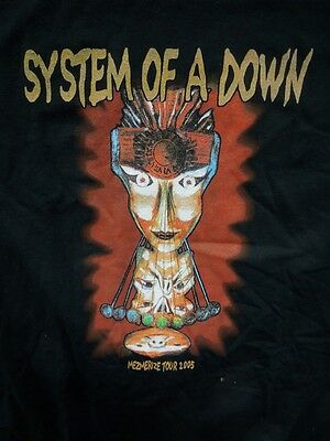SYSTEM OF A DOWN 2005 Mezmerize Concert Tour Two Sided T-SHIRT XL BRAND NEW