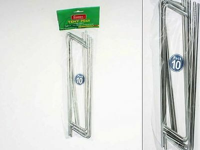 30 x Tent Pegs Metal large 22.5cm stakes comes in 3 packs of 10