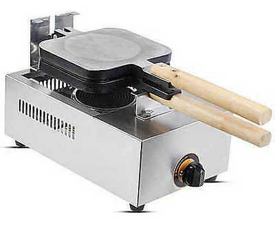 Commercial Use Waffle Maker Baking Machine 4pcs/time Non-stick LPG Gas Lolly
