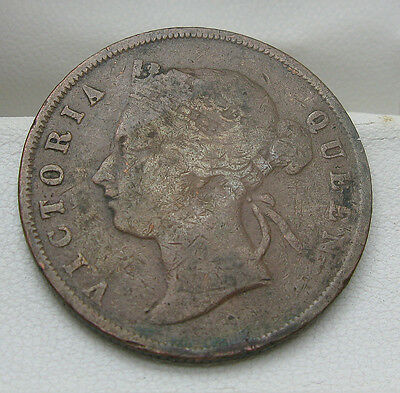 1897 Straights Settlement 1 Cent Coin