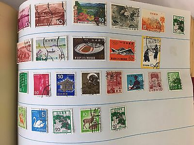 Stamp Album International Stamps, India. Hong Kong, Germany etc