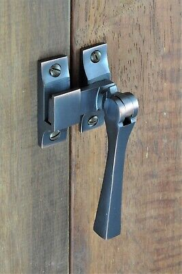 CASEMENT WINDOW FASTENER-CHOICE OF 5 FINISHES-SOLID BRASS-ART DECO-lock latch