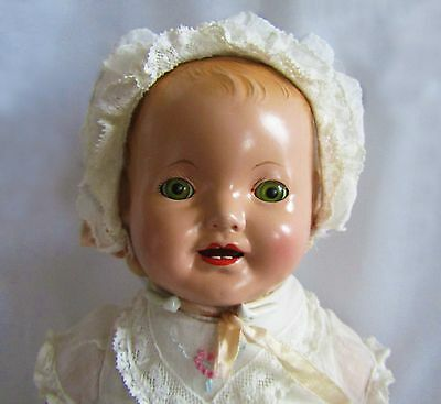 """HIGHLY COLLECTIBLE!! RARE 1920's """"Baby Lovums"""" 16"""" Composition Doll by Effanbee"""