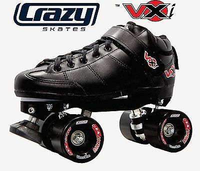 Best Speed Skates EVER!! Crazy VXi Roller Skates - Black -***CLEARANCE PRICES***