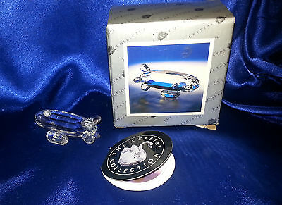 Vintage Unusual Crystal Collection Zeppelin with Box