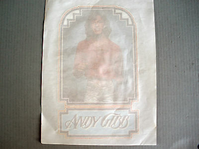 Rare Mint Andy Gibb The Bee Gees 1977 Vintage Original Music Iron On Transfer