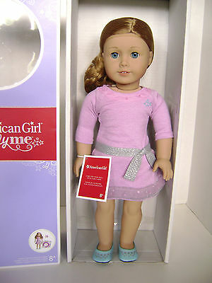 NEW AMERICAN GIRL TRULY ME Doll Light Skin,Curly Light Red Hair,BLUE EYES #33