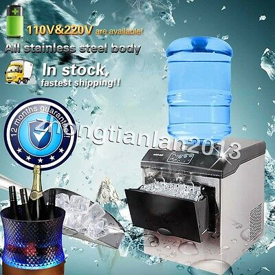 Barreled Water ice cube machine ice maker,Air cooling Auto injection 3 ice shape