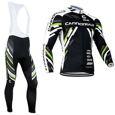 New Mens Cycling Long Sleeve Jerseys Race Fit Bib Pants Outfits Bicycle Gear