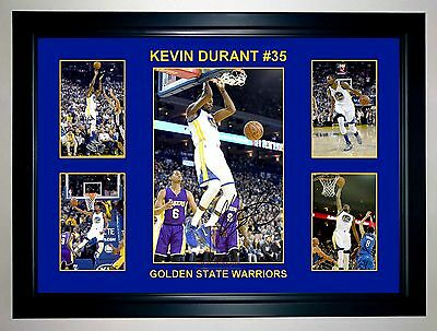 Kevin Durant #35 Golden State Warriors 5 Photo Collage Signed Print Or Framed