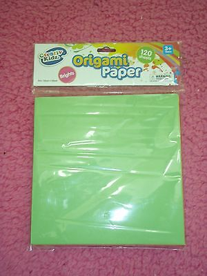 childrens kids art and craft origami paper 120 sheets