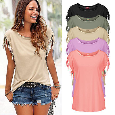 New Fashion Women Summer Loose Top Shirt Short Sleeve Blouse Casual Tops T-Shirt