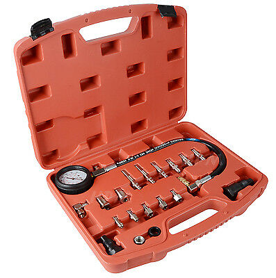 UK 20 pc Diesel Engine Compression Automotive Compressor Tester Kit Tool Set