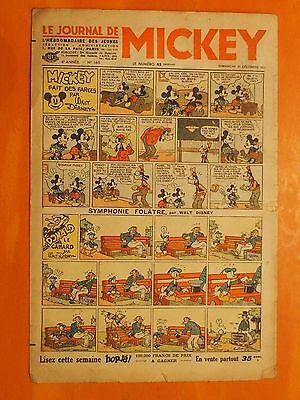 Le journal de Mickey N° 165 du 12/12/1937-Walt Disney. éditions Opera Mundi