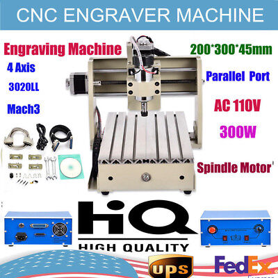 4 AXIS Router Engraver Engraving Drilling Milling Machine Desktop 500W 3020 US