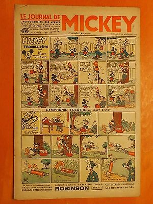 Le journal de Mickey N° 161 du 14/11/1937-Walt Disney.éditions Opera Mundi