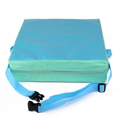 Baby Chair Highchair Booster Cushion Thick Seat Pad with Buckle Strap Blue