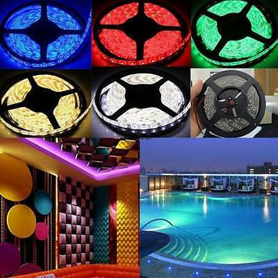 5m SMD2835 LED Multicolor Flexible Strip Lights Waterproof Roll Christmas Lights