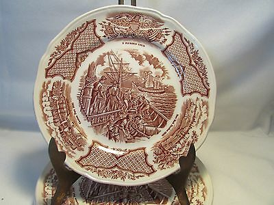 Set of 4 Alfred Meakin Fair Winds Staffordshire England Side Bread Plates Mint