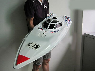 White New Length 115cm Width 40cm Remote Control Boat Children's Gift Toys  #