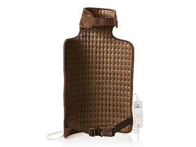 Electric Heated Heat Pad Back & Neck Warmer Brown 6 Settings Free Postage