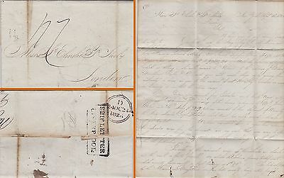 Gb : Liverpool Ship Letter, New York To London Shipping Agent .. 'slaves' (1826)
