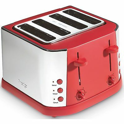 Prestige Toaster 4 Slot-Stainless Steel-Controls-Wide Slot-Crumb Tray  RRP 70