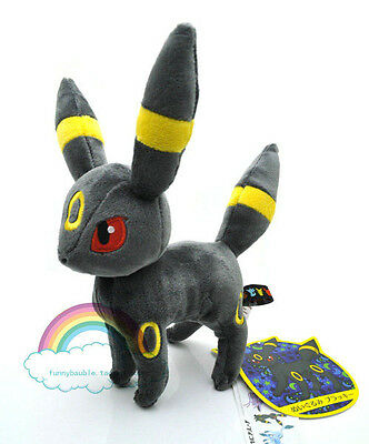 "8"" New Pokemon Eevee UMBREON Plush Rare Soft for child Doll Toy Gift"