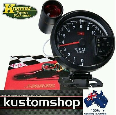 "☆☆Tachometer 5"" 11K Rpm Shift Light 7 Color Led Display.  Monster Tacho!!!☆☆"