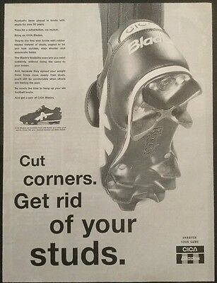1995 Football magazine picture poster CICA BLADES FOOTBALL BOOTS ADVERTISEMENT