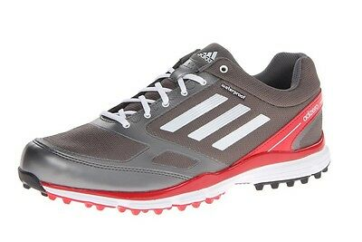 New Adidas Adizero Sport II Mens Golf Shoes Silver White Red Size 9.5