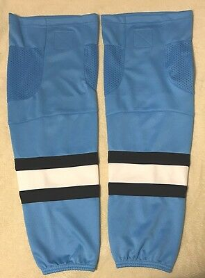 """Ice Hockey Socks Blue With Sports Mesh - Size Youth 24"""" - New"""