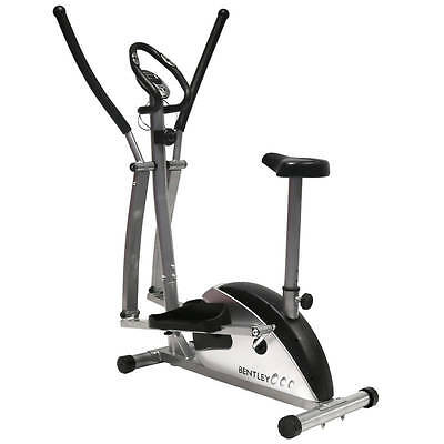 Bentley Fitness 2-in-1 Elliptical Cross Trainer and Exercise Bike