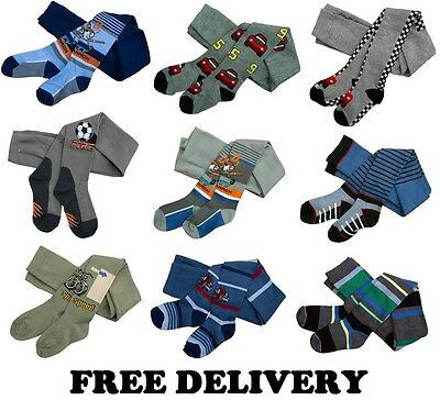 Baby Boys Rich Cotton Mix Tights Leg Warmers Socks 9 - 36 Months 3 - 4 Years New