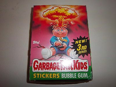 1986 Garbage Pail Kids 3rd Series 3 Unpunched Full Wax Box 48 Poster Near Mint+