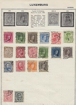 Ls188 Very Early Stamps From Luxembourg On Old Album Page