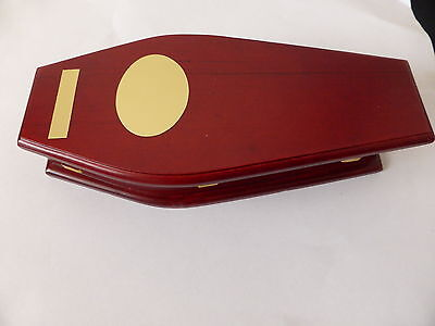 1.12 Scale Coffin - Ideal For  Halloween Dolls House Miniature 1.12 Scale